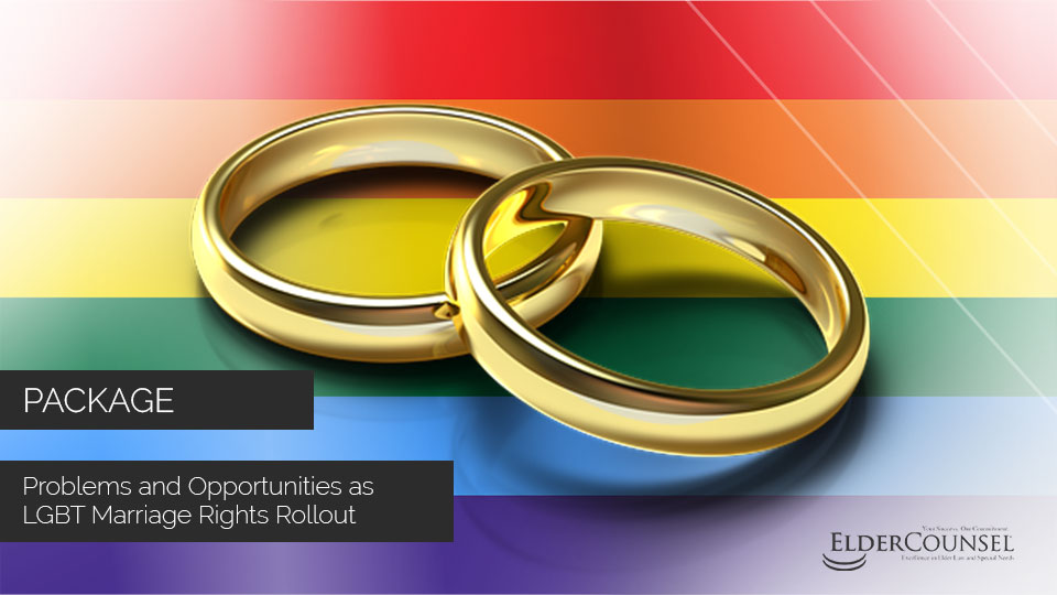 Problems and Opportunities as LGBT Marriage Rights Rollout