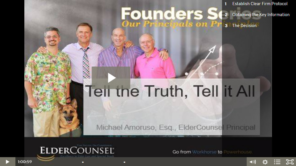 Founders Series: Tell The Truth, Tell It All