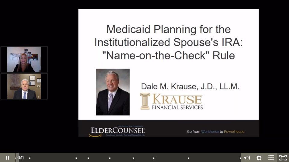 Medicaid Planning For The Institutionalized Spouse's IRA