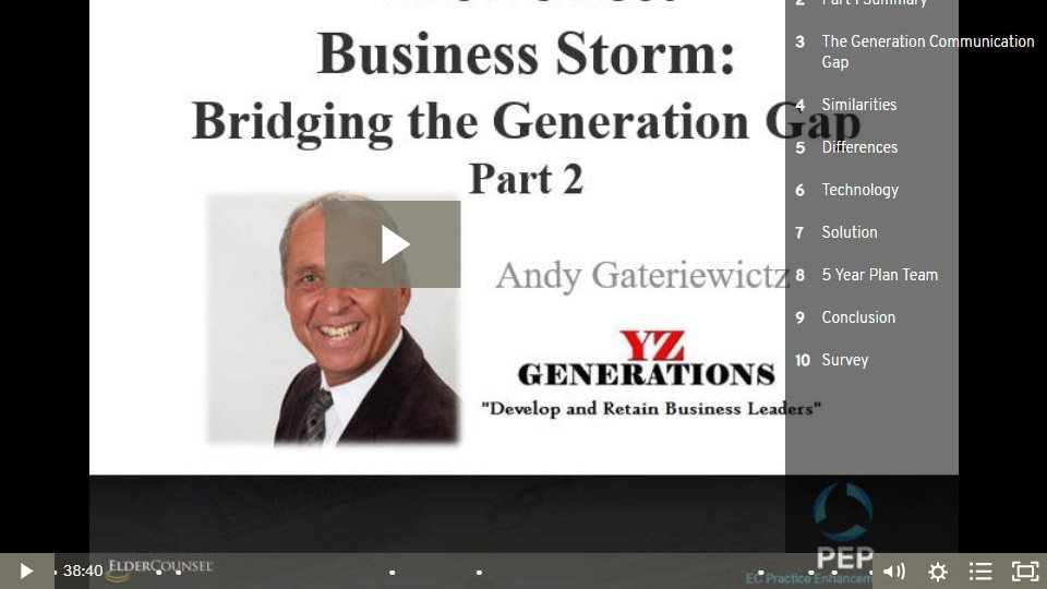 The Perfect Business Storm: Part 2- Bridging The Generation Gap