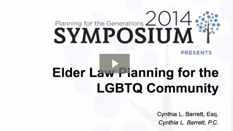 Elder Law Planning For The LGBT Community