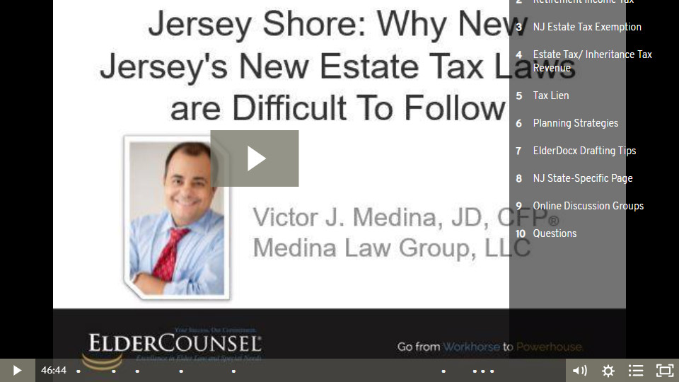 Jersey Shore: Why New Jersey's New Estate Tax Laws Are Difficult To Follow