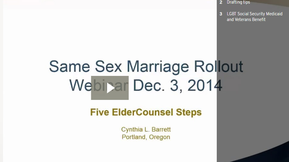 Same Sex Marriage Roll-out: Five Steps To Position Your Practice