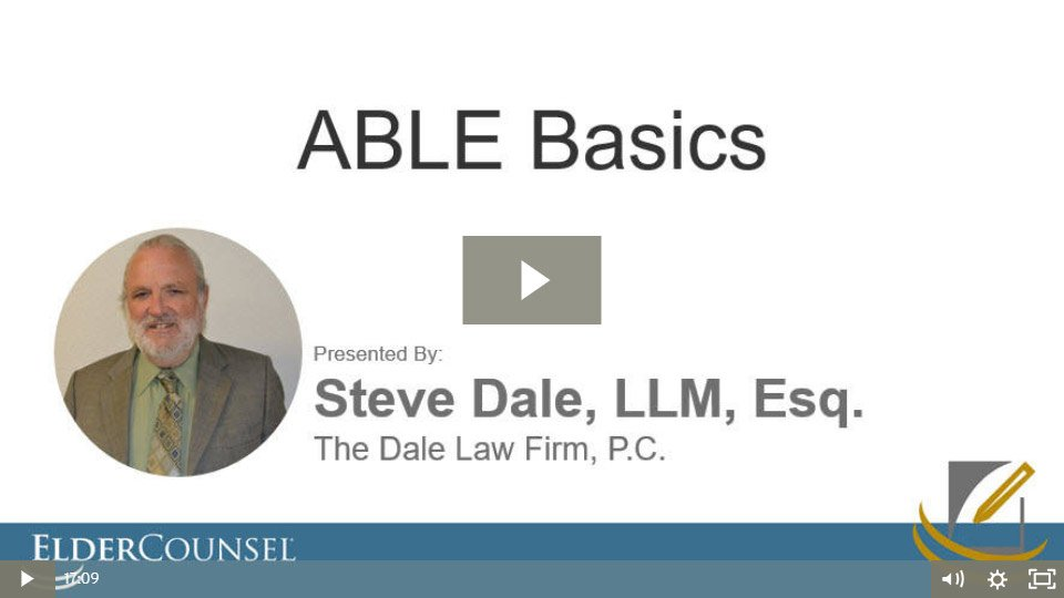 The Basics Of The ABLE Act