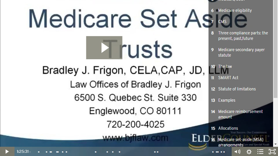 Understanding Medicare Set Aside Trusts - Part 1