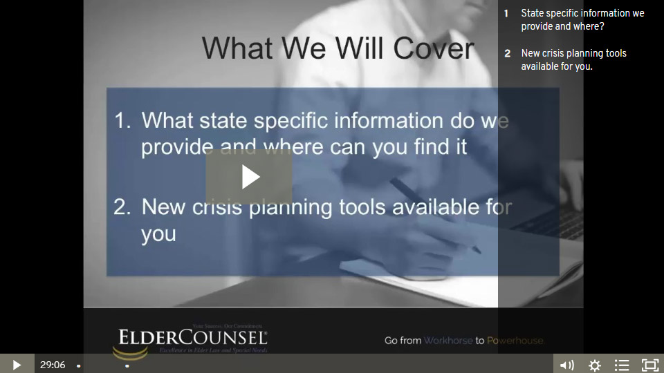 Understanding State Specific Information And 2 New Crisis Planning Tools