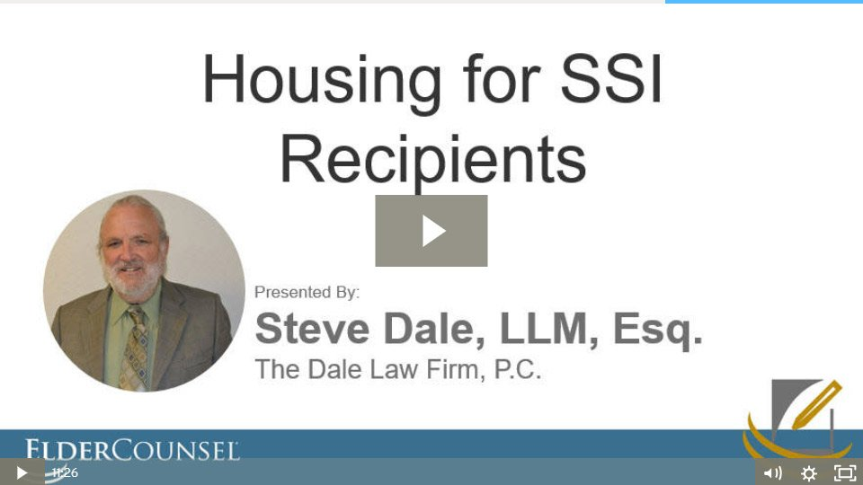 Housing For SSI Recipients