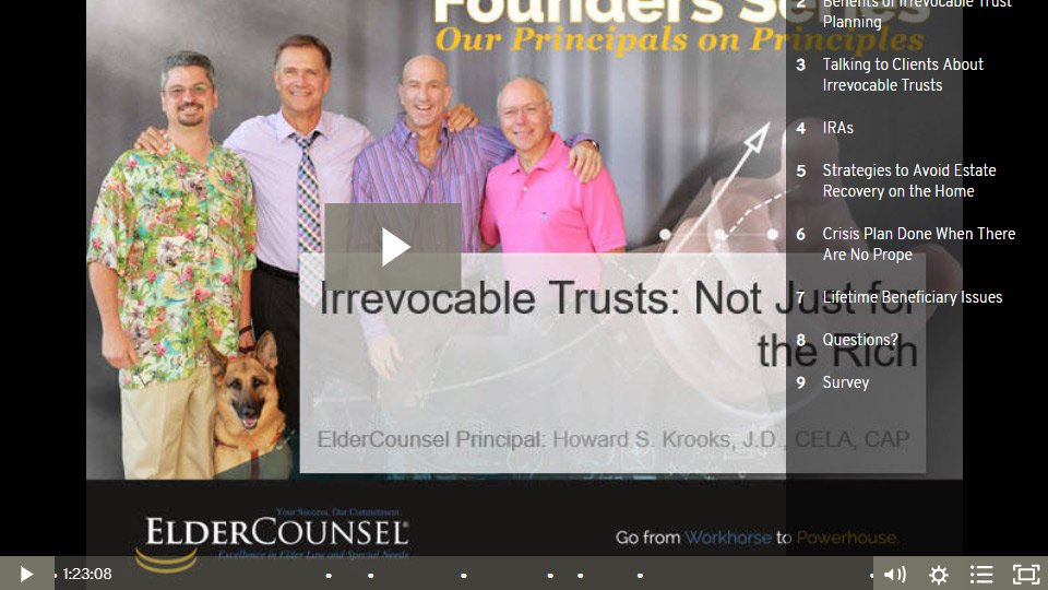 Founders Series: Irrevocable Trusts: Not Just For The Rich