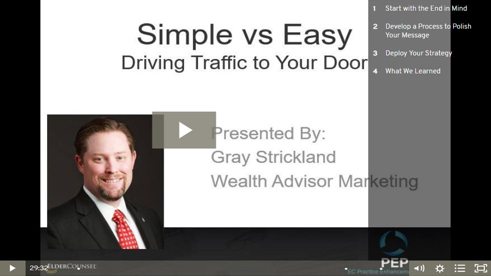 Simple Vs Easy: Driving Traffic To Your Door