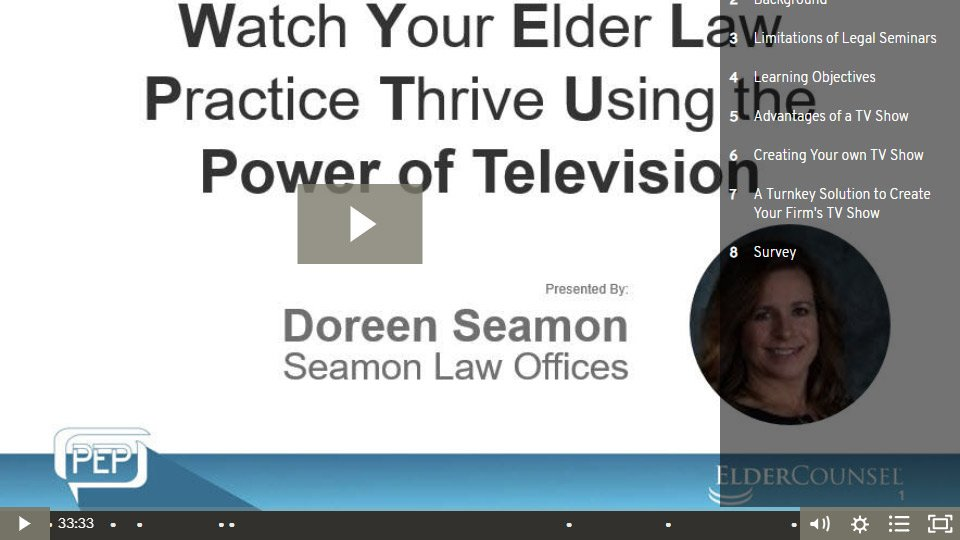 Watch Your Elder Law Practice Thrive Using The Power Of Television