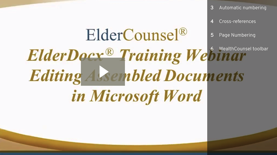 Editing Assembled Documents In Microsoft Word