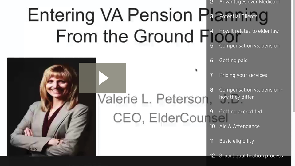 Entering VA Pension Planning From The Ground Floor