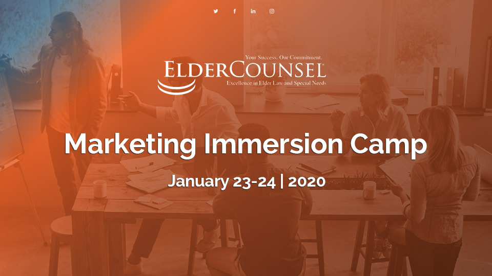 Marketing Immersion Camp – January 2020