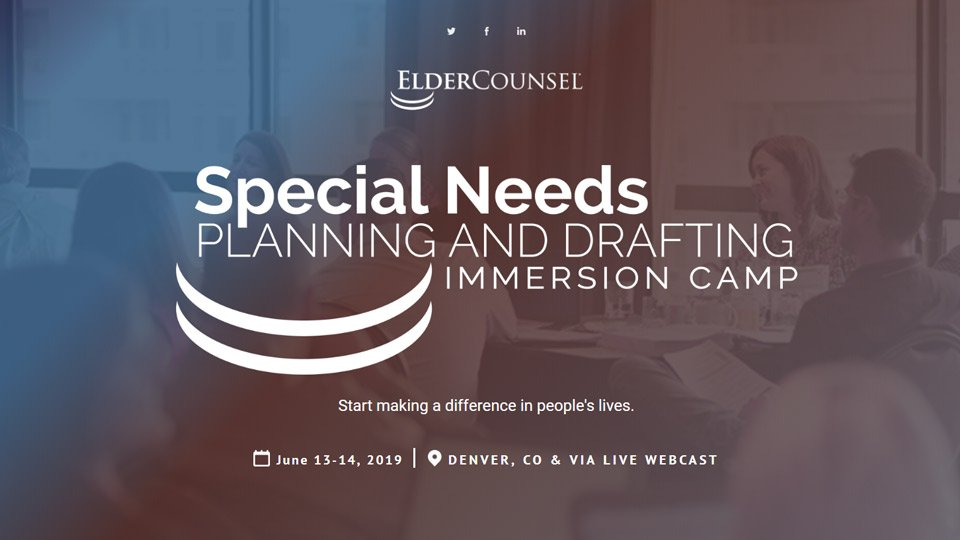 Special Needs Planning & Drafting Immersion Camp