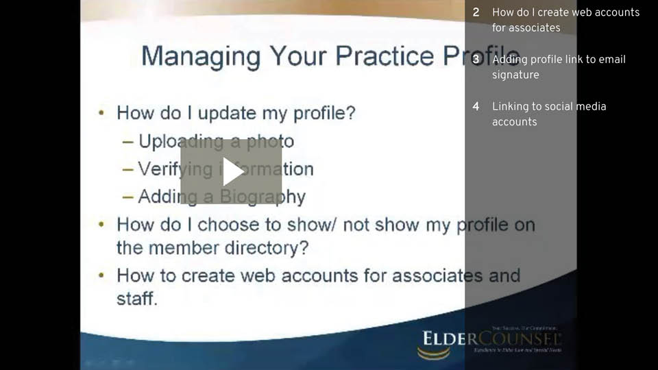 Managing Your Practice Profile