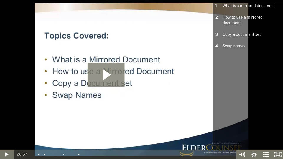 Mirroring Documents With ElderDocx