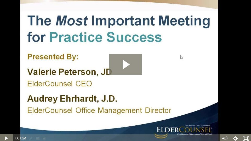 The Most Important Meeting For Your Practice Success