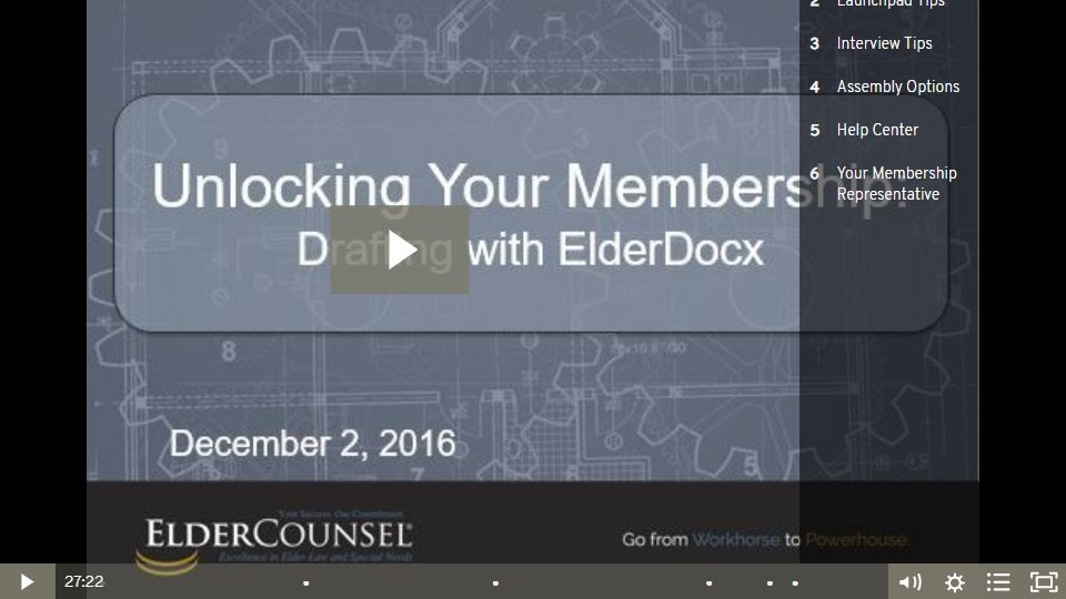 Unlocking Your Membership: Drafting With ElderDocx
