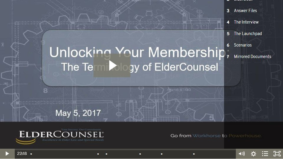 Unlocking Your Membership: The Terminology Of ElderCounsel