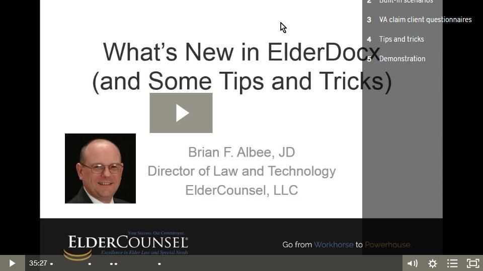 What's New In ElderDocx (and Some Tips And Tricks)