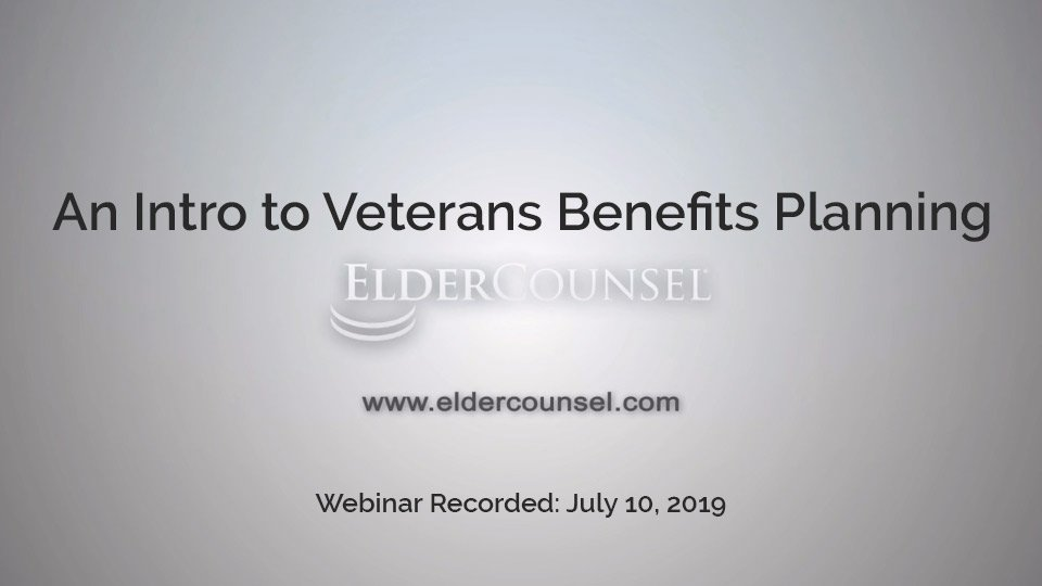An Intro To Veterans Benefits Planning