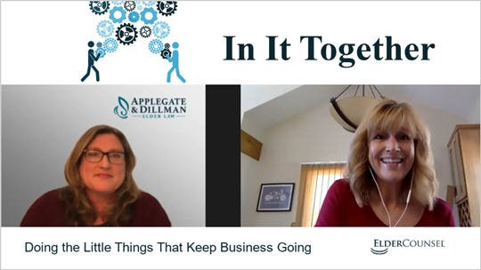 In It Together: Doing the Little Things That Keep Business Going