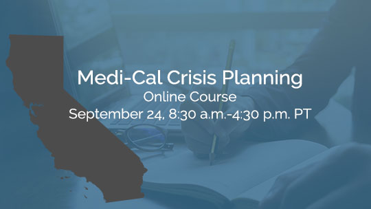 Medi-Cal Crisis Planning Recordings